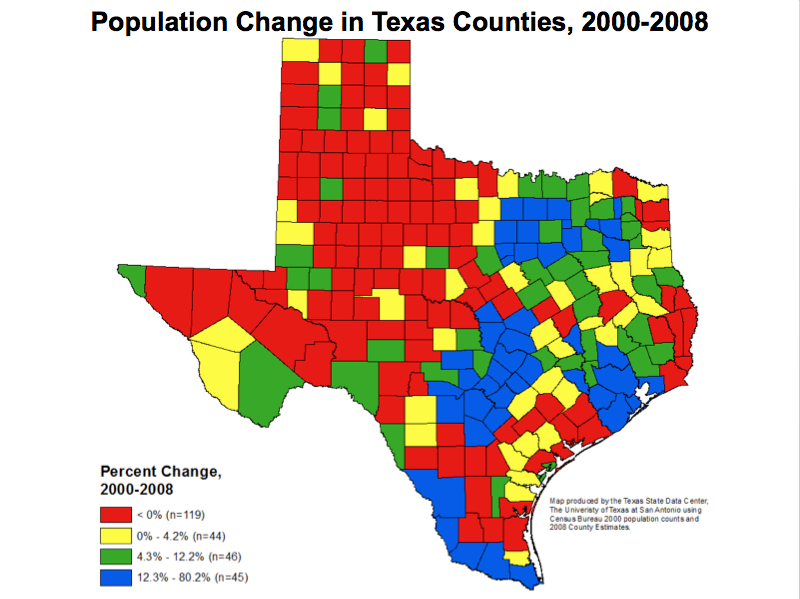 Population Map Of Texas.Former Census Director Talks Demographic Shift The Texas Tribune