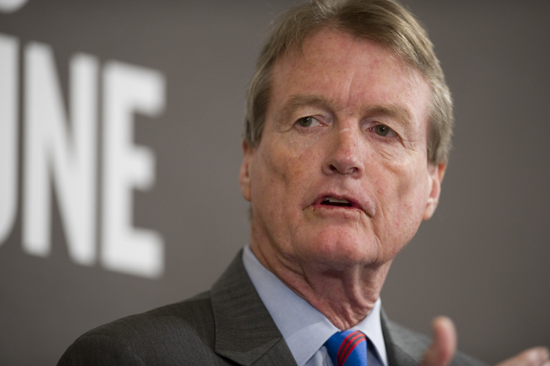 Bill Powers, president of the University of Texas at Austin, at a TribLive event on April 28, 2011.