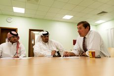 Reading class at the Qatar Community College