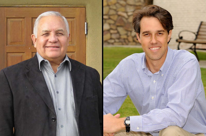 Former. U.S. Rep. Silvestre Reyes, left, and current U.S. Rep. Beto O'Rourke, right.