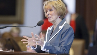 State Rep. Debbie Riddle, R-Houston, speaks in favor of Amendment #5 to SB4 the congressional redistricting bill that would affect a small portion of north Harris County during debate on June 14, 2011.  The amendment was eventually tabled.