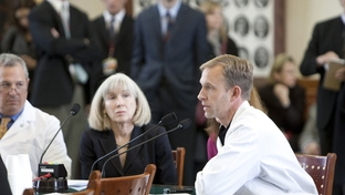 Round Rock physician Dr. Matt Romberg testifies before the Senate State Affairs Committee on February 9, 2011