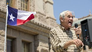 Ron Paul speaks at a Tea Party rally at the Texas Capitol on May 6, 2012.
