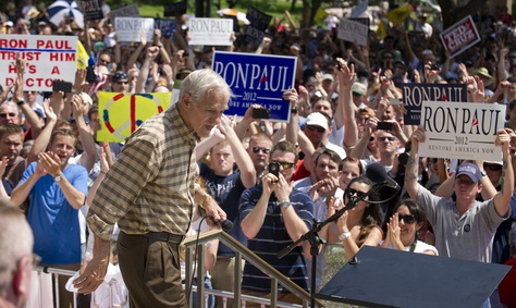 Ron Paul at a rally at the Texas Capitol on May 6, 2012.
