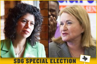State Rep. Carol Alvarado (left), D-Houston, and Former Harris County Commissioner Sylvia Garcia are among the eight candidates vying to replace the late Sen. Mario Gallegos.