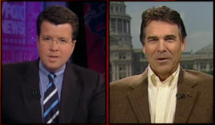 Screenshot from Neil Cavuto on Gov. Rick Perry