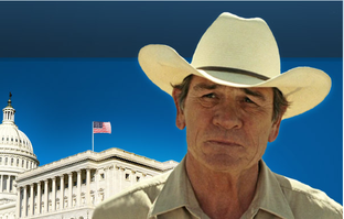 A screenshot of the Tommy Lee Jones for Senate website.