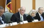 State Sen. Kel Seliger (l),  R-Amarillo, chairs the Senate Select Committee on Redistricting along with Sen. Judith Zaffirini (c), D-Laredo and Sen. Jeff Wentworth (r), R-San Antonio, on May 13, 2011.