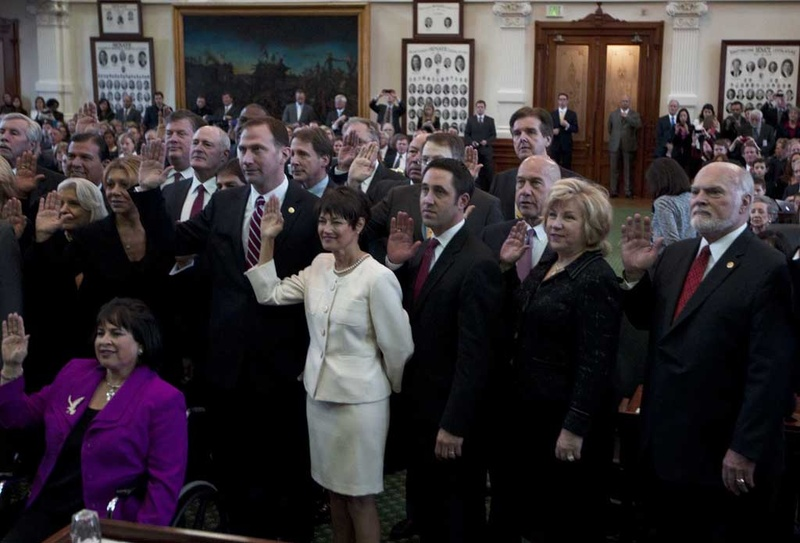 The senators of the 83rd legislative session were sworn in Jan. 8, 2013, the first day of the session.