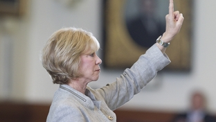Sen. Florence Shapiro, R-Plano, votes to table an amendment by Sen. Wendy Davis (not shown) on SB8 an education bill that gives school administrators added powers to lower teacher pay and establish furloughs.  The bill tentatively passed, 18-12 on June 6, 2011.
