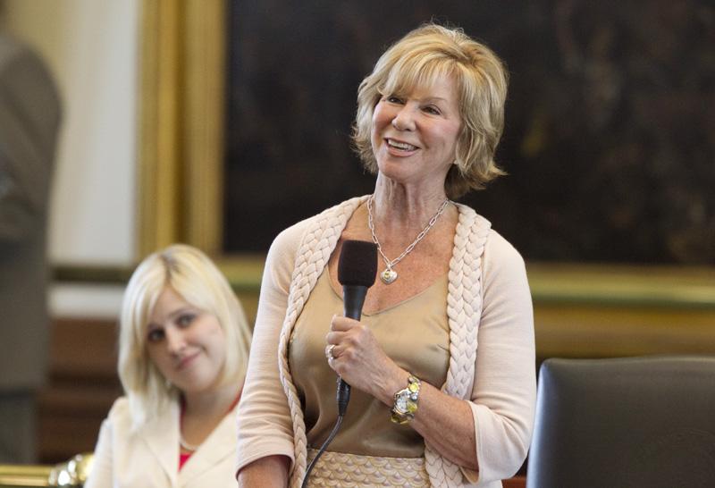 State Sen. Florence Shapiro, R-Plano, thanks the Senate for passing SB8 on June 27, 2011.