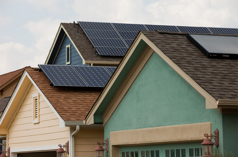 A number of homes an Austin's Mueller development have added solar panels, thanks to hefty local and federal incentives.
