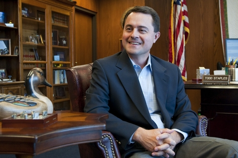 Texas Commissioner of Agriculture, Todd Staples - August 29, 2011.
