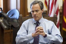 Texas House Speaker Joe Straus, R-San Antonio, ponders a reporter's question at a press briefing May 30, 2012 at the Texas Capitol.