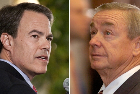 House Speaker Joe Straus and the man in the running to unseat him, state Rep. Warren Chisum, R-Pampa.