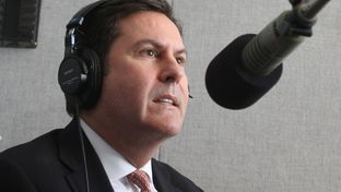 Brian McCall, chancellor of the Texas State University System, during an interview at Marfa Public Radio in Marfa, TX.