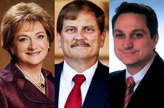 Cathie Adams, Tom Mechler, and Steve Munisteri
