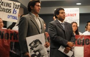 County attorney David Escamilla and Eddie Rodriguez