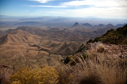 View from the South Rim of the Chisos Mountain looking south into Mexico in Big Bend National Park, Texas in November 2010.