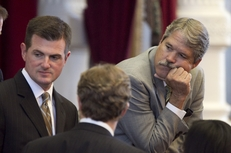 State Rep. Brandon Creighton, R-Conroe, and Rep. Larry Taylor, R-Friendswood, in the House on June 27, 2011.