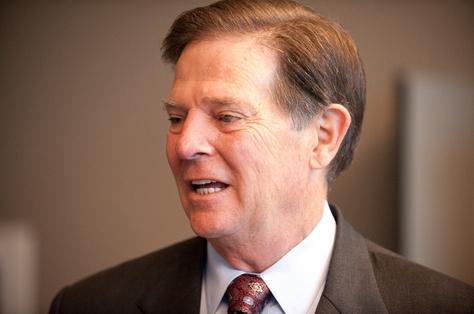 Former U.S House Majority Leader Tom DeLay before opening arguments in his trial on Nov. 1, 2010.