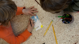 Students at Austin Discovery School work on a project at the Texas charter school on Tuesday, February 15th, 2011.