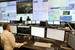 Grid technicians monitor screens at the Electric Reliability Council of Texas' state-of-the-art backup control center in Bastrop.