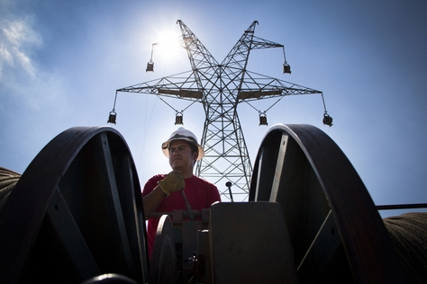 Near Sweetwater, construction is complete on transmission lines that will connect windy regions of the state to its population centers. The total cost of all the lines throughout Texas is estimated at nearly $7 billion.