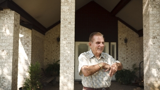 Retired Galveston County Judge Ray Holbrook at his home in Santa Fe, Texas, on Sept. 12, 2011. A public official for 28 years, Holbrook led the effort to opt out of Social Security in 1981.