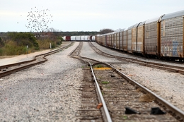 Coal from the Dos Republicas site in rural Maverick County is carried by train through the center of Eagle Pass, Texas, and across the border into Mexico where it can be sold.
