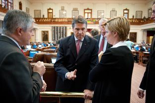 Gov. Rick Perry in the House chamber on May 19, 2011.