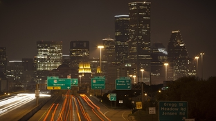 Interstate 10 east of downtown in Houston, Dec. 6, 2011.