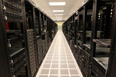 Rows of racks holding servers make up the test lab at Rackspace Hosting Headquarters in San Antonio, Monday, January 7, 2012.