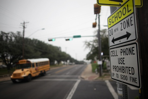 Although Texas is one of 11 states without a state-wide ban on texting and driving, cell phone use while driving is illegal for those under 18 and in school zones.