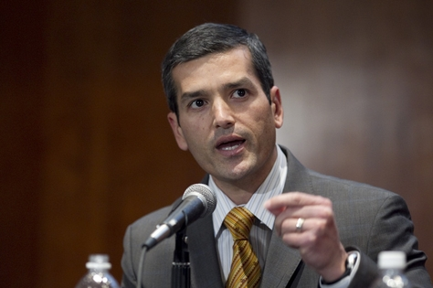 Rep. Mike Villarreal (D-San Antonio) talks about changing Texas demographics at the LBJ School on February 28, 2011