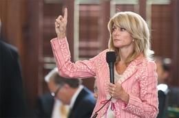 Sen. Wendy Davis D-Fort Worth on the Senate floor May 23rd, 2011