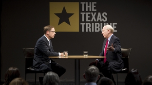 Bill White being interviewed by Evan Smith on October 15, 2010 in Austin.