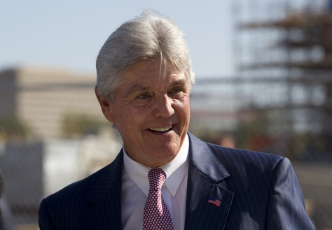 Former Texas Secretary of State Roger Williams in Dallas on Oct. 3, 2011 at the construction site of the Bush Presidential Library on the SMU campus.