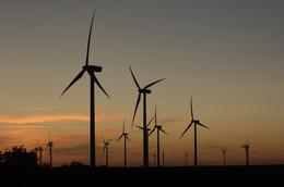 Merkel, Texas October 3, 2006: Dedication of the Buffalo Gap Wind Farm, a project of AES Energy in Nolan County, TX