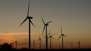 Merkel, Texas October 3, 2006: Dedication of the Buffalo Gap Wind Farm, a project of AES Energy in Nolan County, TX