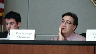 State Rep. Pete Gallego, D-Alpine, listens to testimony as chairman of the Criminal Jurisprudence committee on April 5, 2011.