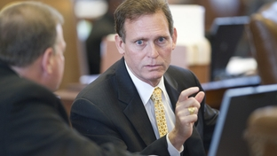 State Rep. John Zerwas, R-Simonton, talks with a colleague after he was named an HB1 budget conferee on May 6, 2011.