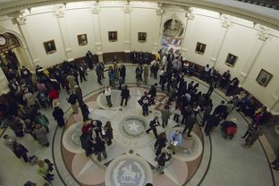 Inside the Texas Capitol on Jan. 8, 2013, the opening day of the 83rd Legislative session