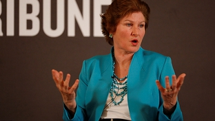 April 15, 2010. Karen Hughes speaks in Austin, TX.