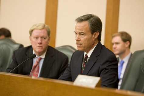 July 9th, 2012: Texas Speaker of the House Joe Straus during House Appropriations Committee hearing