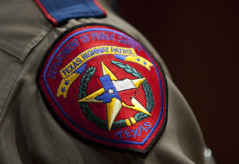 Texas Department of Public Safety patch worn on a uniform during an April 7, 2011 graduation ceremony in Austin.