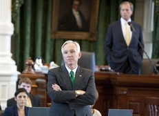 Sen. Steve Ogden, R-Bryan, chairman of the Senate Finance Committee, listens to comments during floor debate on the state budget on May 3, 2011.