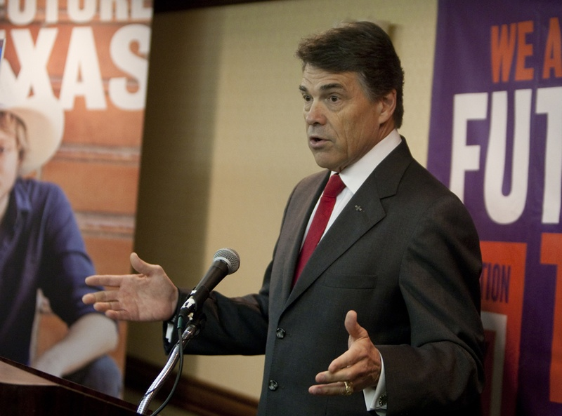 Gov. Rick Perry speaks discusses higher education in Texas at conference in Austin, Texas