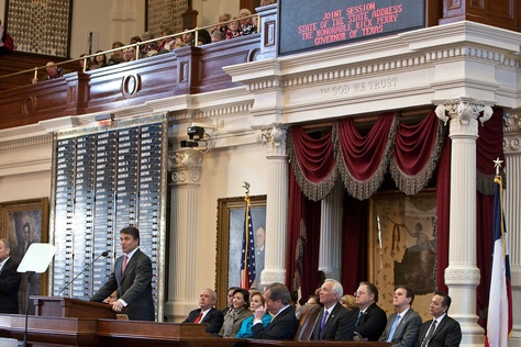 Governor Rick Perry delivers the State of State speech on February 8th, 2011.