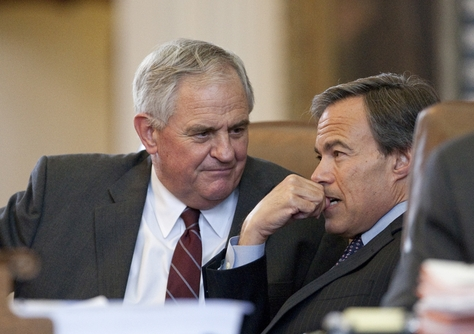 Rep. Jimmie Don Aycock, R-Killeen, with Speaker Joe Straus R-San Antonio on May 20th, 2011